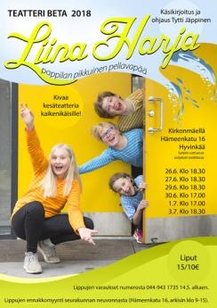 mainos vuoden 2018 kesäteatterista nimeltä Liina Harja