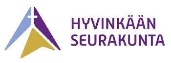 Logo, jossa teksti Hyvinkään seurakunta ja kuvana hyvinkään kirkon muoto
